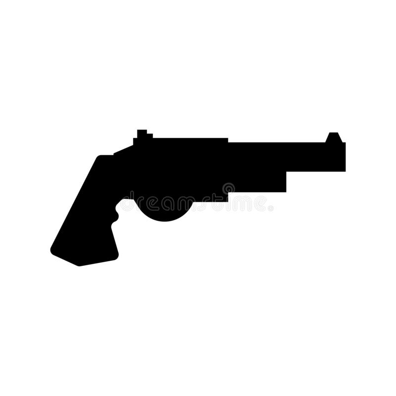Revolver icon vector sign and symbol isolated on white background, Revolver logo concept stock illustration