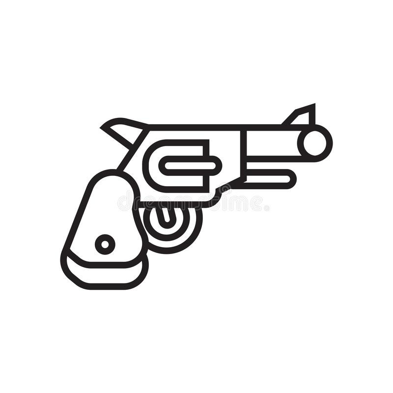 Revolver icon vector sign and symbol isolated on white background, Revolver logo concept vector illustration