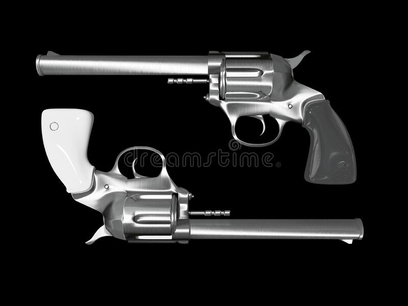 Revolver illustration royalty free stock images