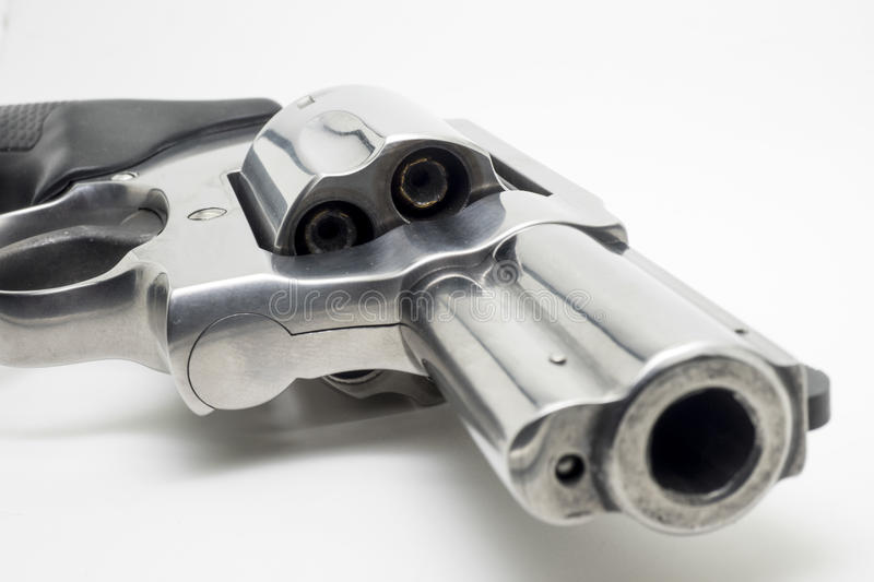 Revolver isolated on white background royalty free stock images