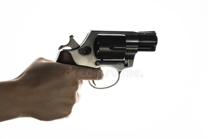 Revolver isolato dell'arma fotografie stock libere da diritti