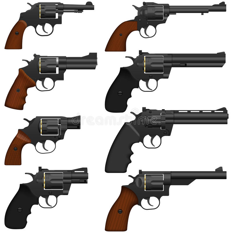 Revolver. Layered vector illustration of collected Revolver royalty free illustration