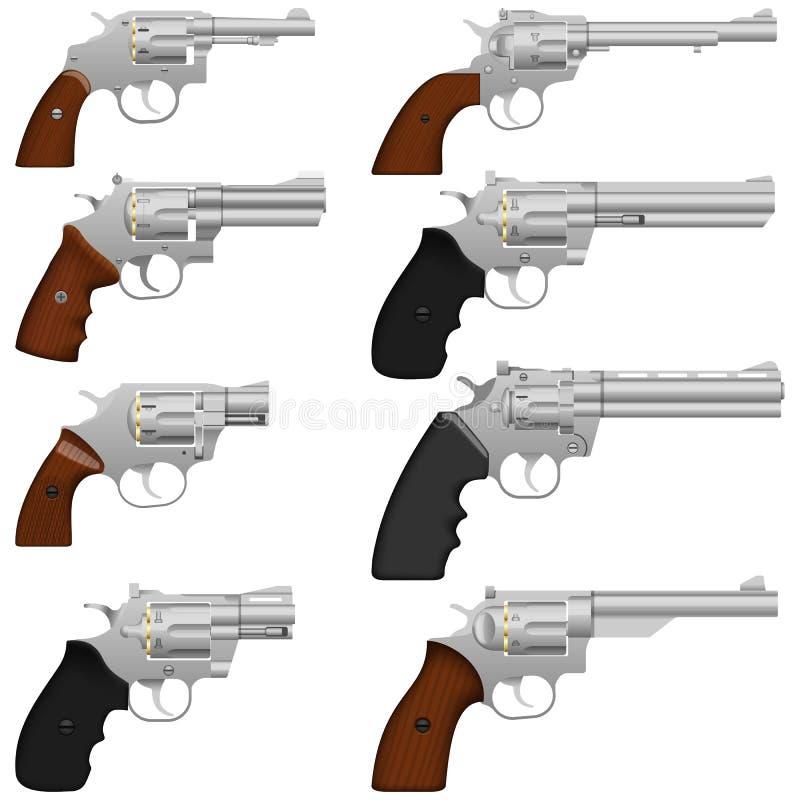 Revolver. Layered vector illustration of collected Revolver vector illustration