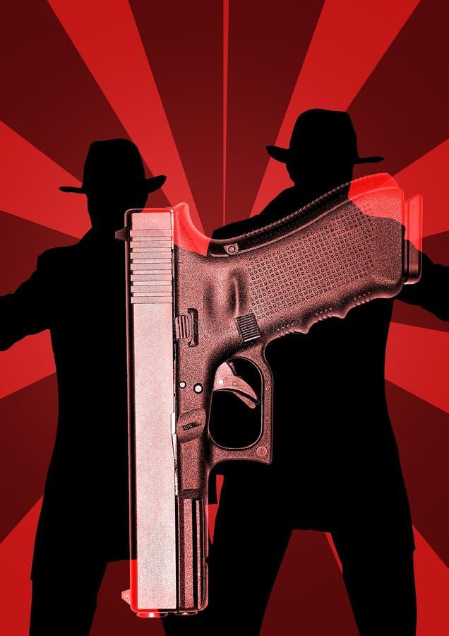 Revolver med kriminalare royaltyfria foton