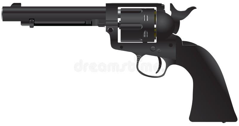 Revolver mit einer zylinderförmigen Trommel stock abbildung