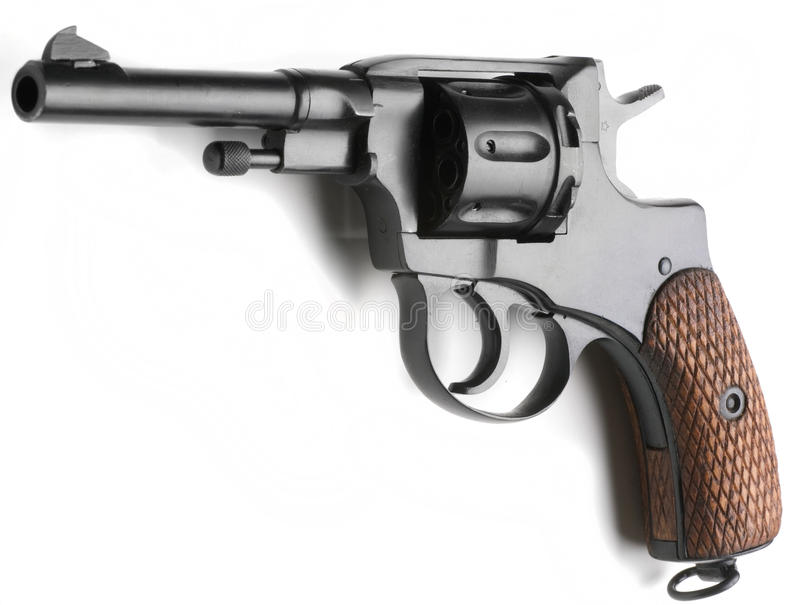 Download Revolver Nagant stock image. Image of wwii, handgun, isolated - 21595255