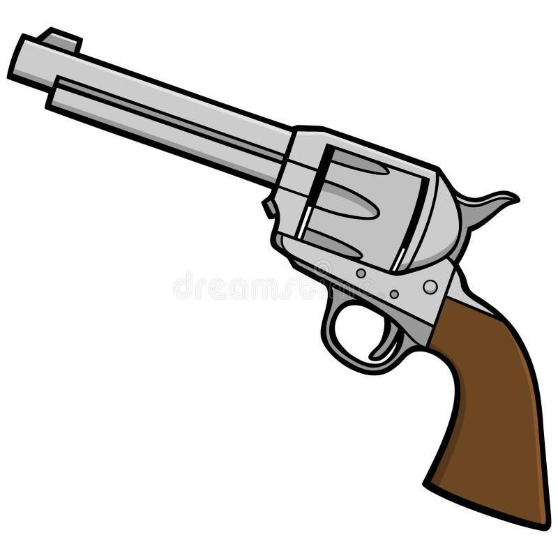 Revolver occidental illustration stock