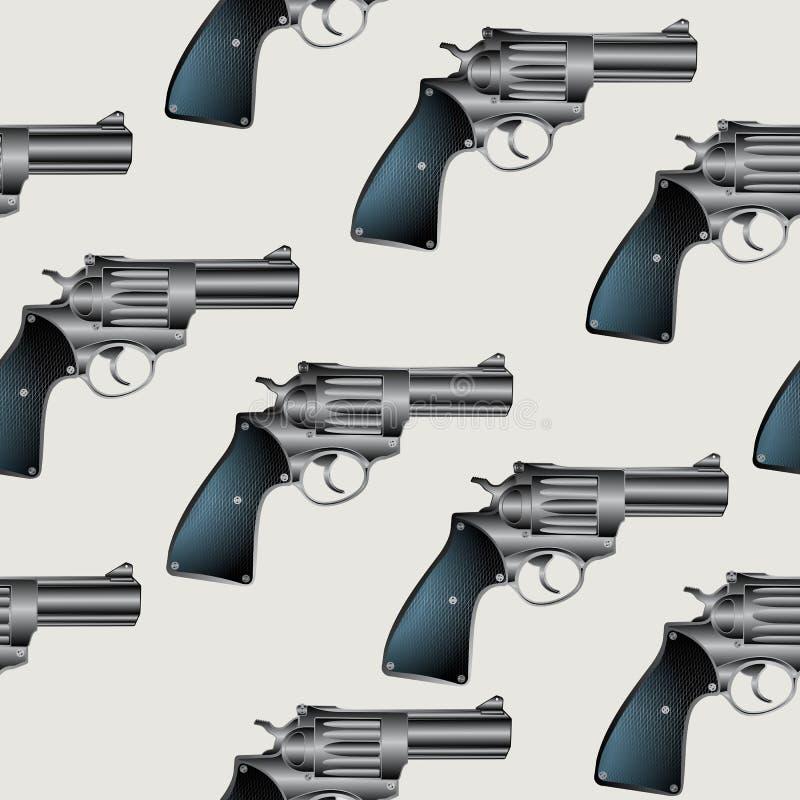 Download Revolver pattern stock vector. Image of handgun, tile - 20373829