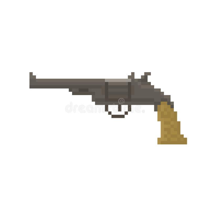 Revolver scuro del pixel fotografia stock