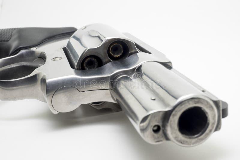 Revolver som isoleras på vit bakgrund royaltyfria bilder