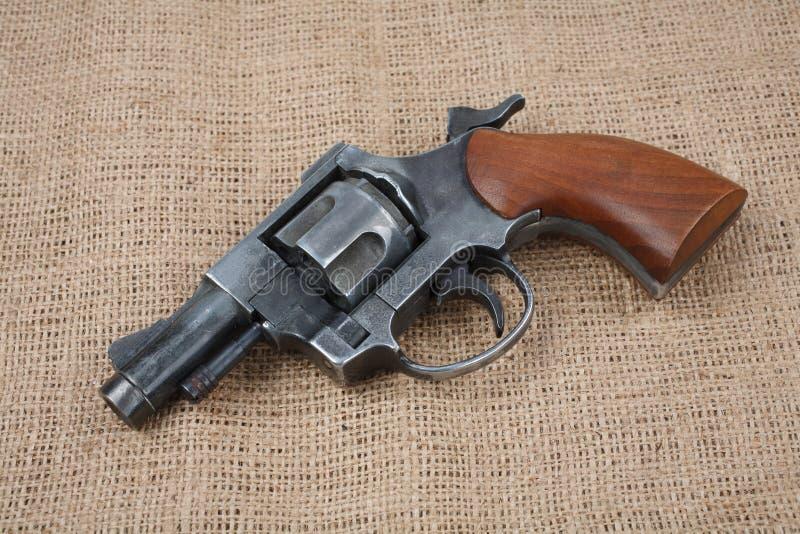 Revolver sur la toile photo stock