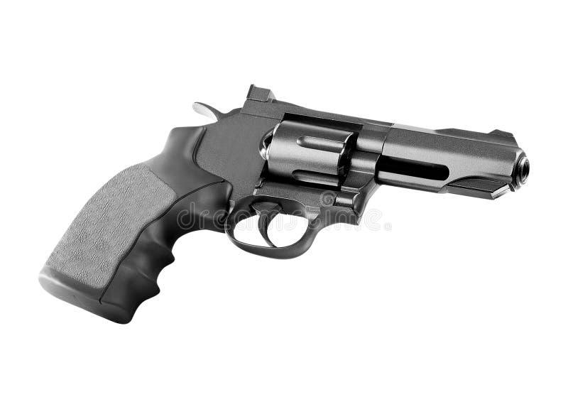 Revolver sur le fond blanc photo stock