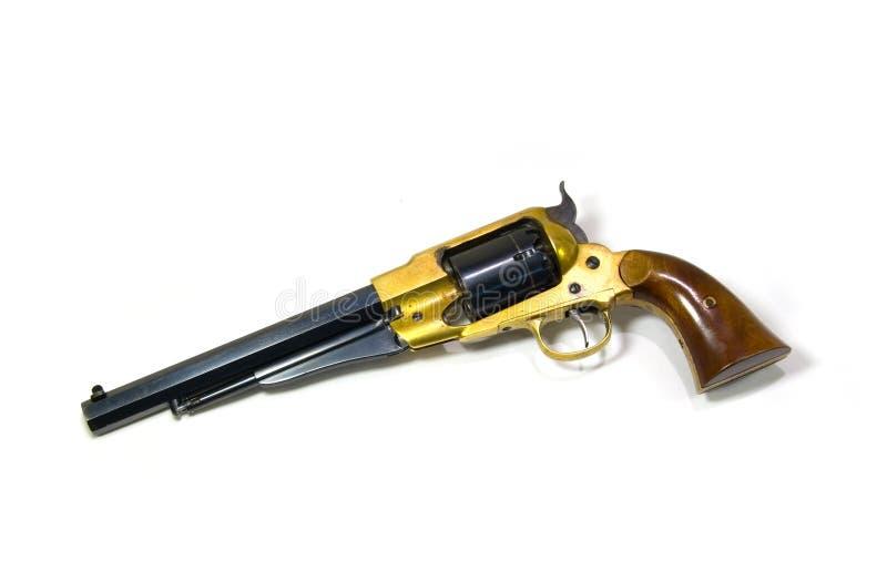 Revolver sur le fond blanc. photographie stock