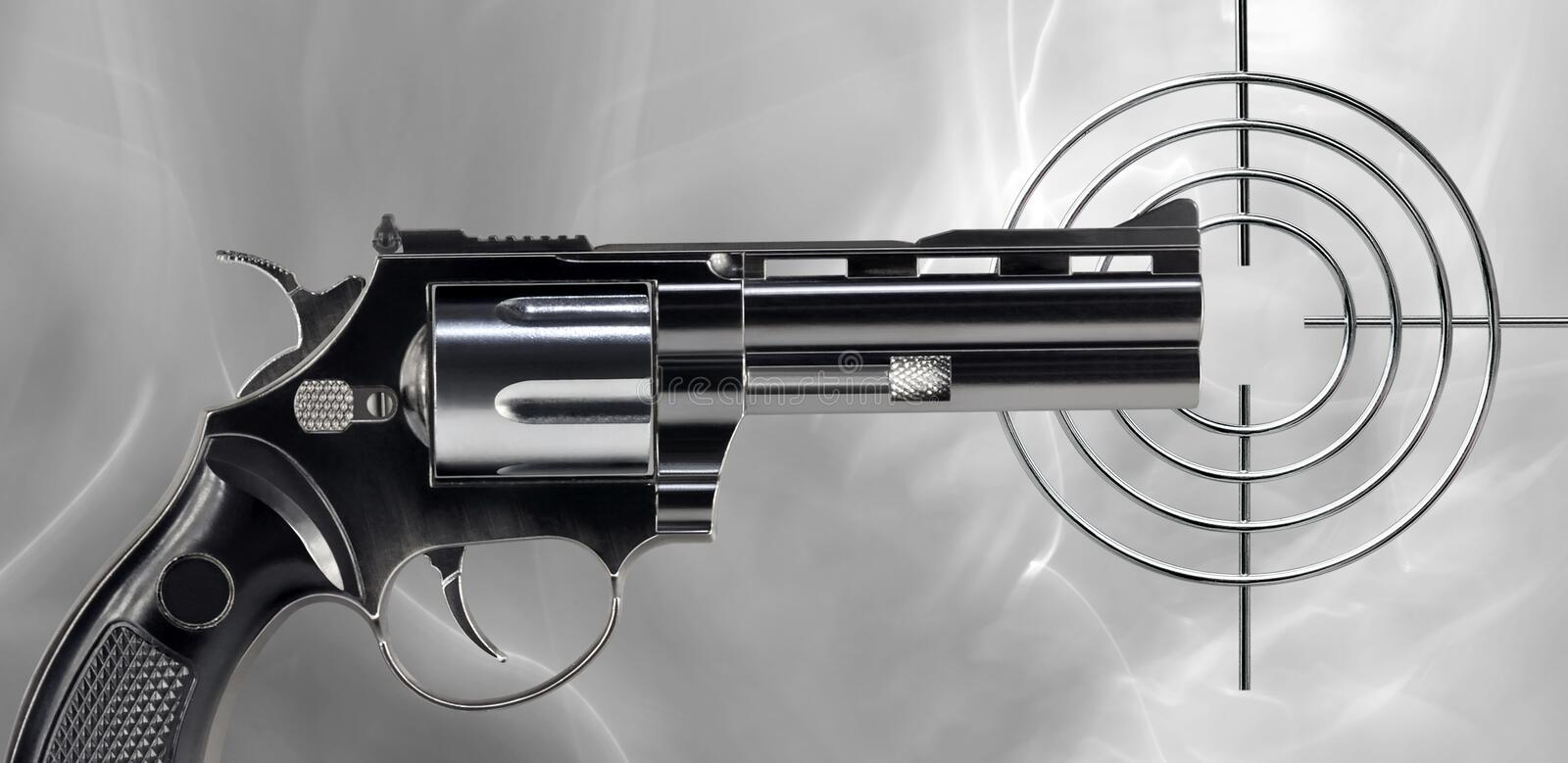 Download Revolver and target stock image. Image of revolver, arms - 39504633