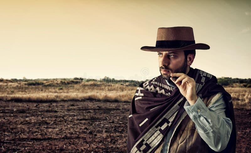 Revolverheld des wilden Westens stockfotos