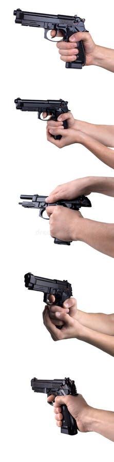 Revolvers en mains photo libre de droits