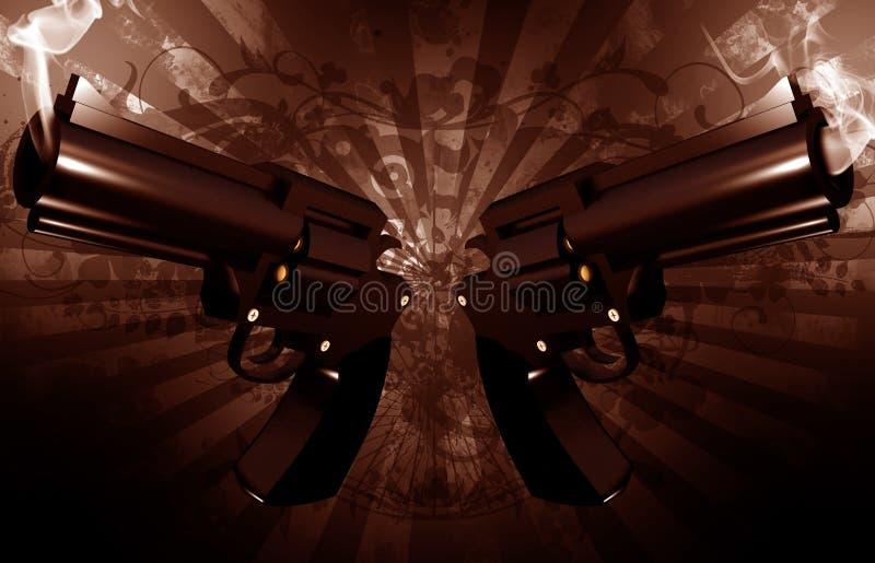 Revolvers grunges illustration libre de droits