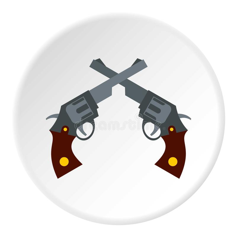 Revolvers icon, flat style. Revolvers icon. Flat illustration of revolvers icon for web royalty free illustration
