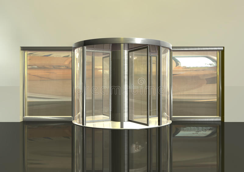 Download Revolving door stock illustration. Illustration of entrance - 14708820