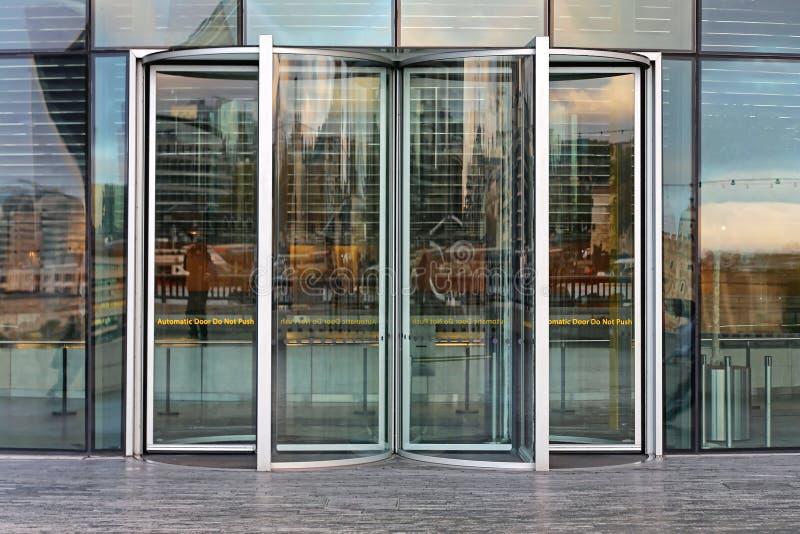 Revolving Door London stock photo