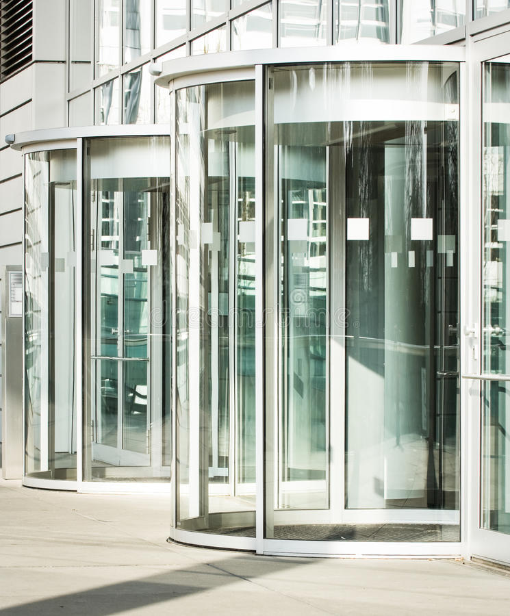 Download Revolving doors stock image. Image of rotating, facade - 30009299