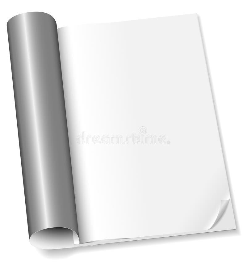 revue blanc illustration de vecteur