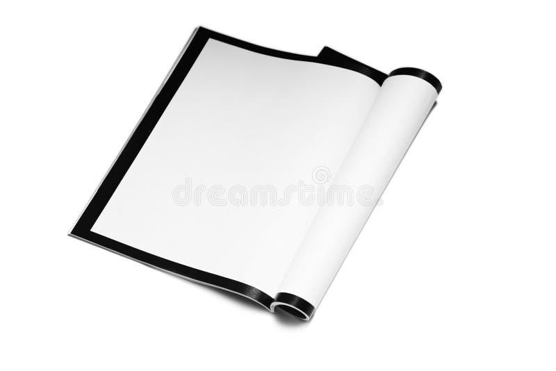 Revue blanc image stock