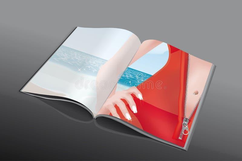 Revue de fermeture éclair illustration stock