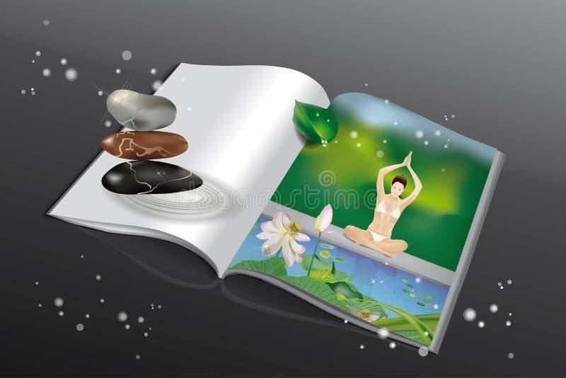 Revue de yoga illustration libre de droits