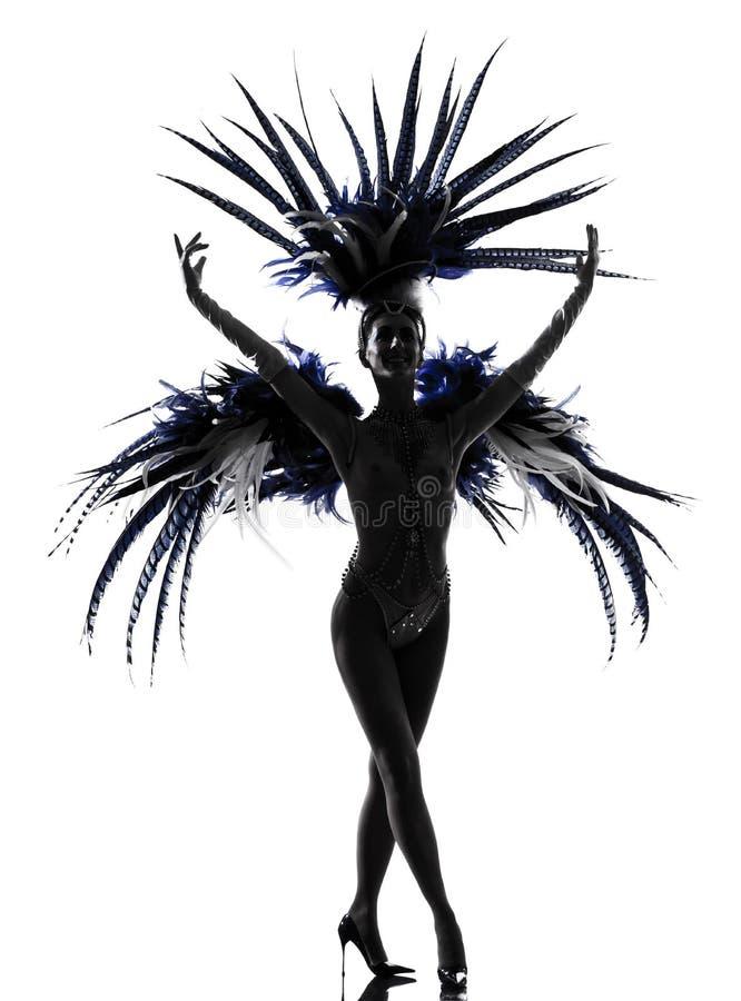 Revuegirlfrauenrevue-Tänzertanzen stockbild