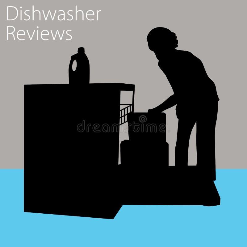 Revues de lave-vaisselle illustration stock