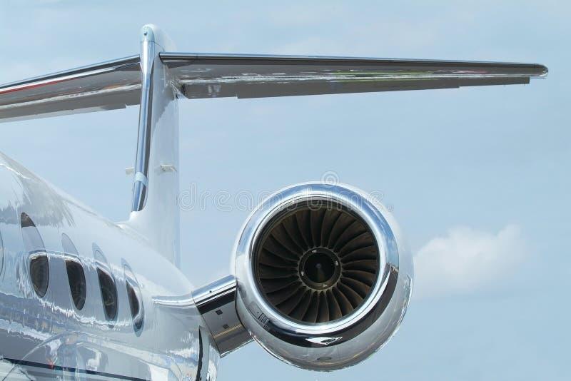 Rewar detail of business jet royalty free stock image