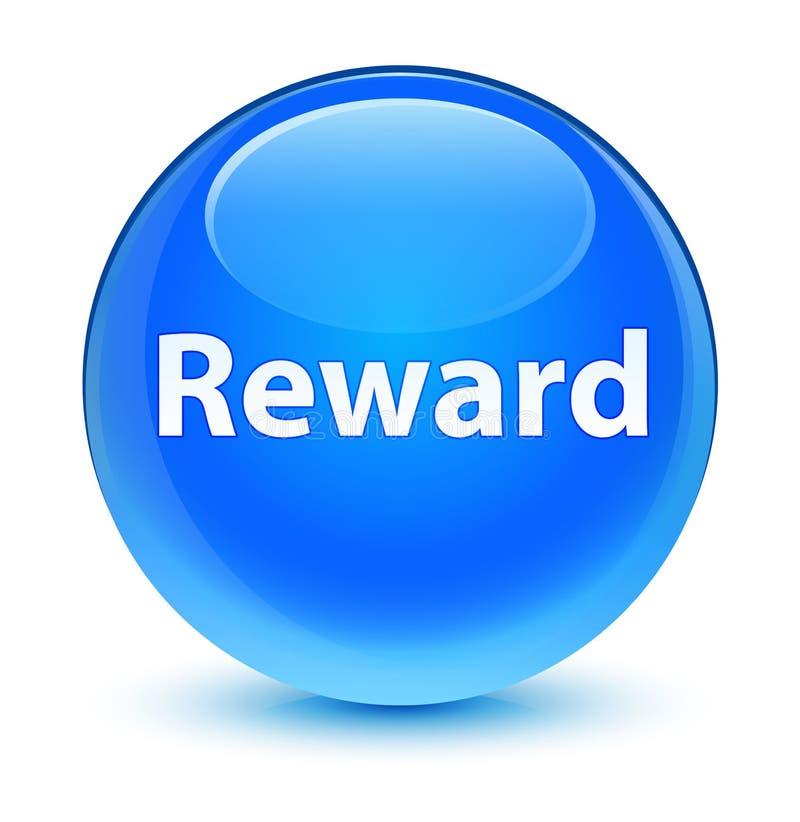 Reward glassy cyan blue round button. Reward isolated on glassy cyan blue round button abstract illustration vector illustration