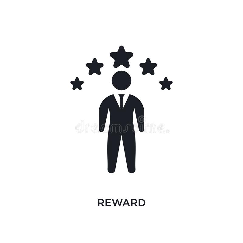 Reward isolated icon. simple element illustration from crowdfunding concept icons. reward editable logo sign symbol design on. White background. can be use for royalty free stock photography