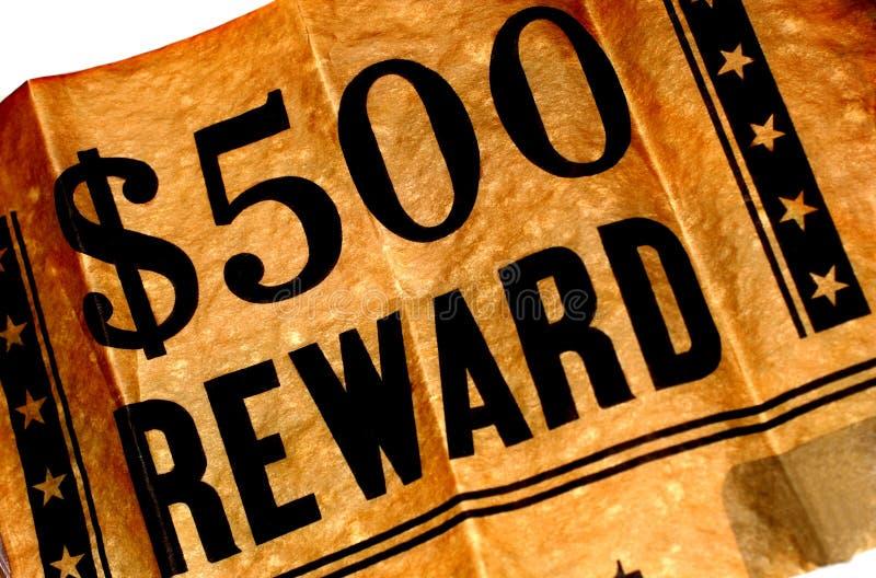 Reward Poster royalty free stock image