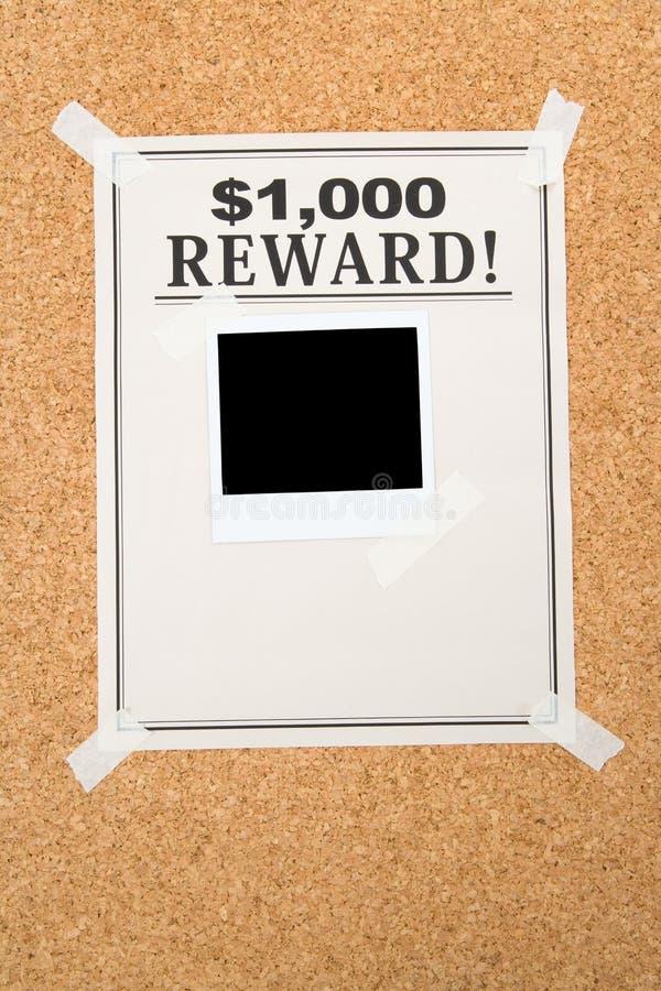 Reward poster royalty free stock photography