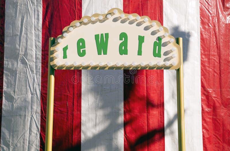 Reward sign stock photography