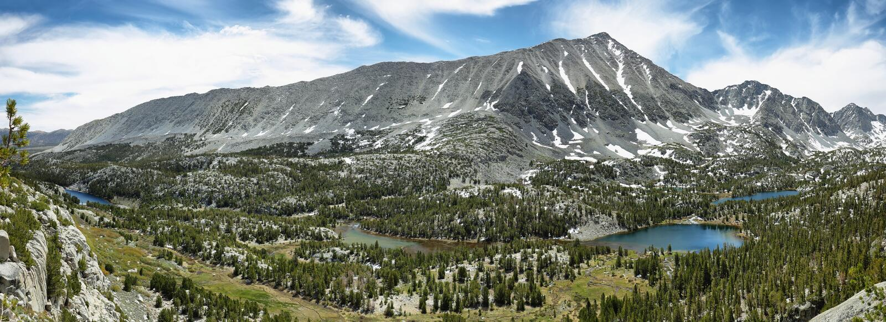 Rewarding views of Little valley lakes. California royalty free stock photo