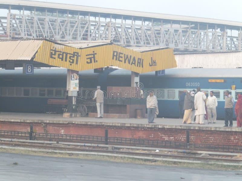 Rewari Railway Station in India. Rewari Railway Station in Haryana, India stock photography
