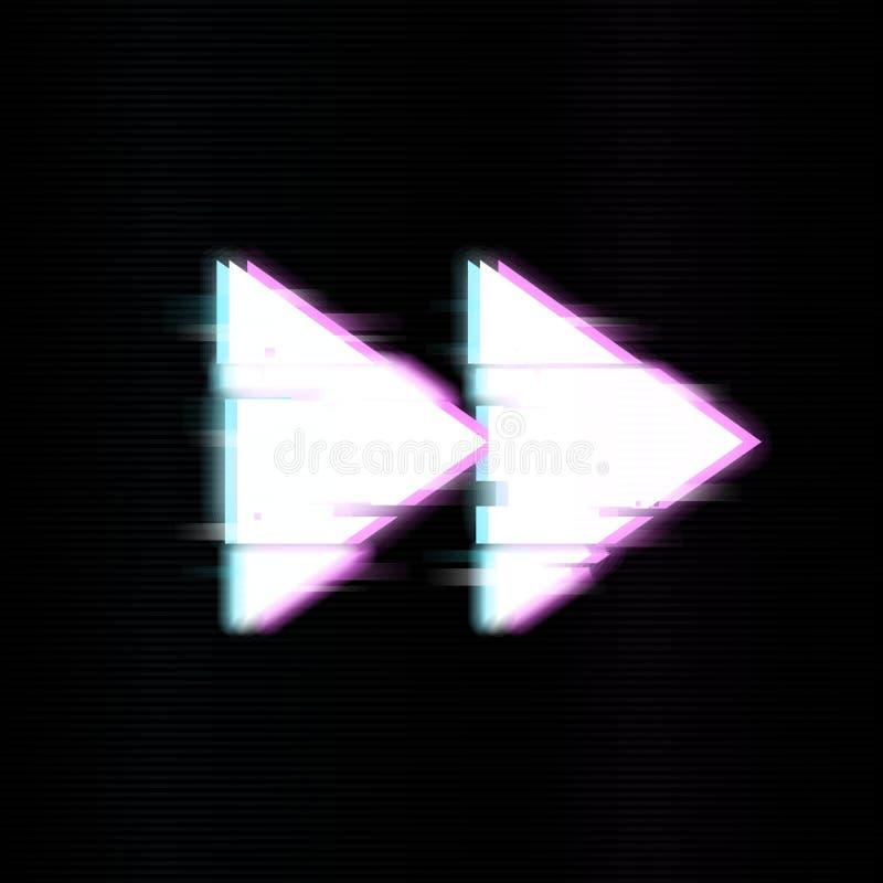 Rewind guziki w usterka stylu Abstrakcjonistyczny minimalny szablonu projekt dla oznakować Nowożytni tło pokrywy plakaty, sztanda ilustracji