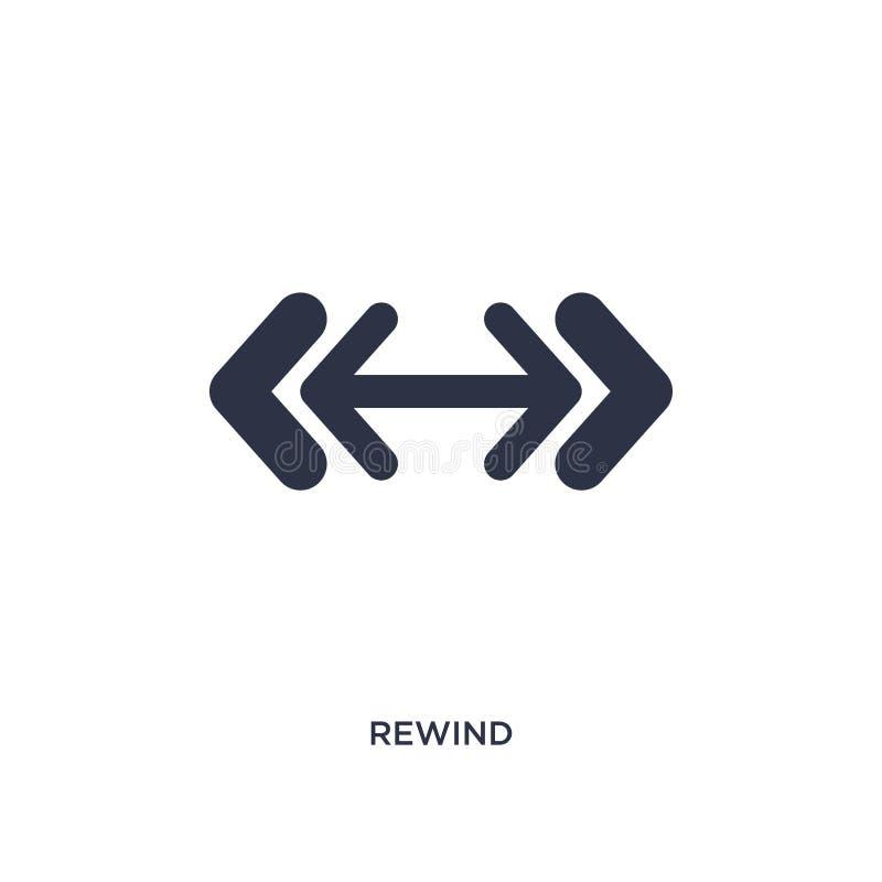 Rewind ikona na białym tle Prosta element ilustracja od strzał 2 pojęcia ilustracja wektor