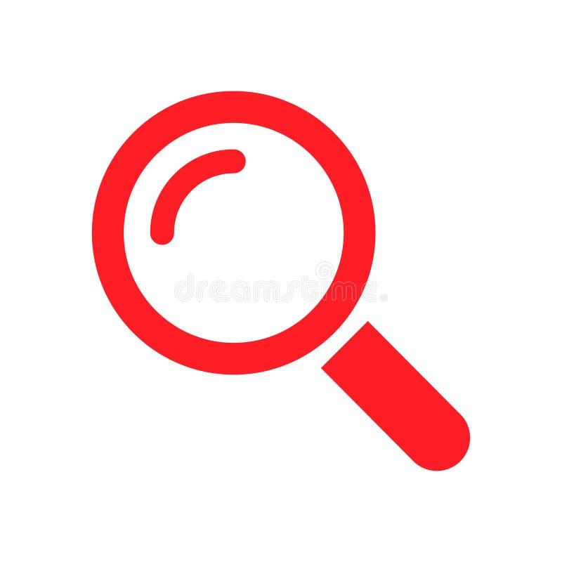 Rewizi ikony guzika symbolu wektor Powiększać - szklany symbol Patrzeje piktogram royalty ilustracja