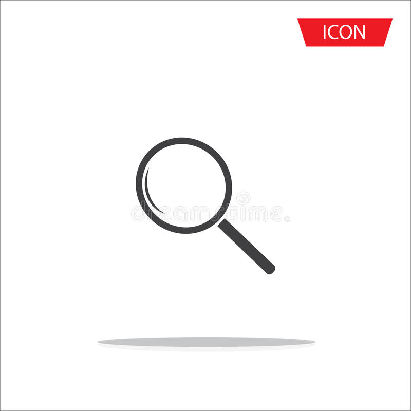 Rewizi ikony powiększać - szklana ikona zdjęcie royalty free