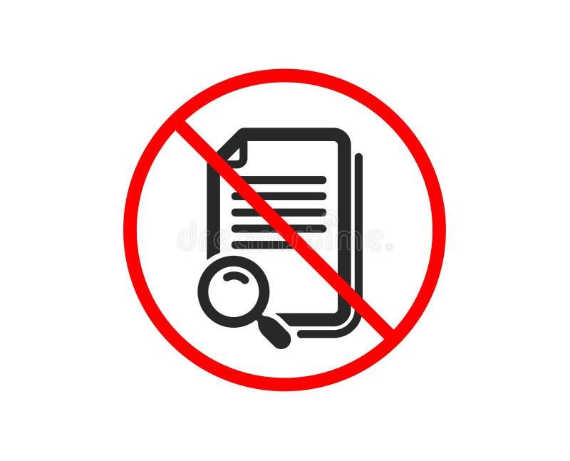 Rewizi kartoteki ikona Znalezisko dokumentu znak wektor ilustracji