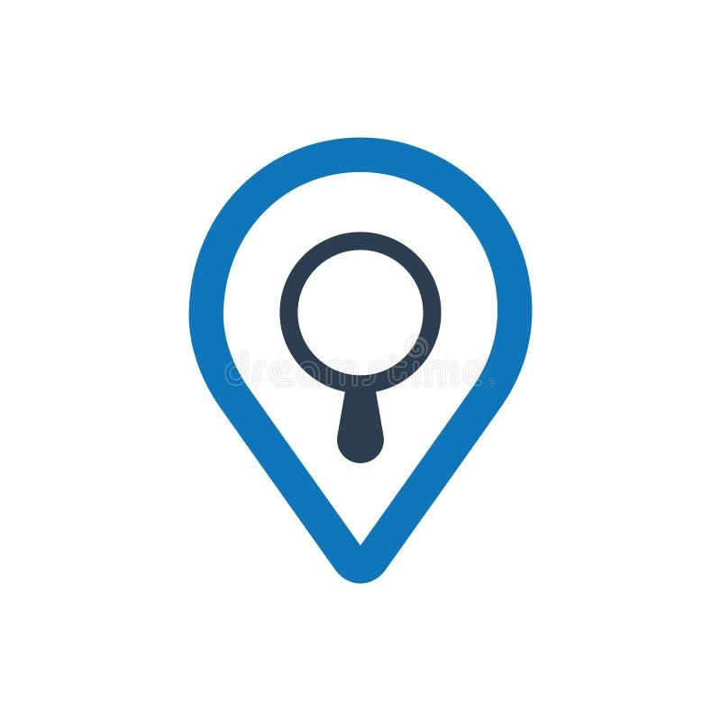 Rewizi mapy ikona ilustracja wektor