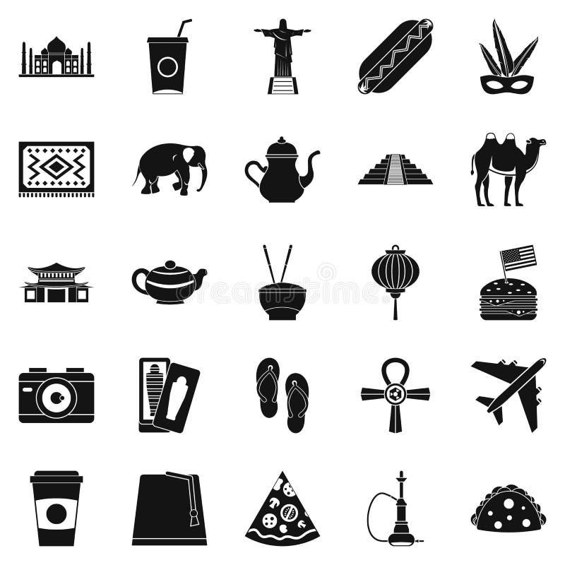 Rewizi yourself ikony ustawiać, prosty styl ilustracja wektor
