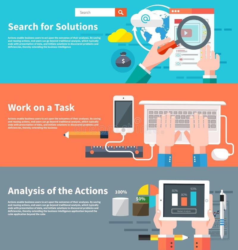Rewizja dla rozwiązań infographic ilustracja wektor