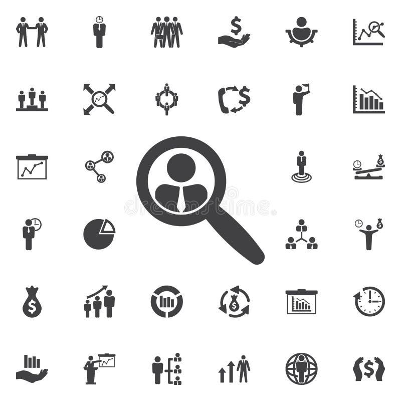 Rewizja kandydata ikona ilustracja wektor