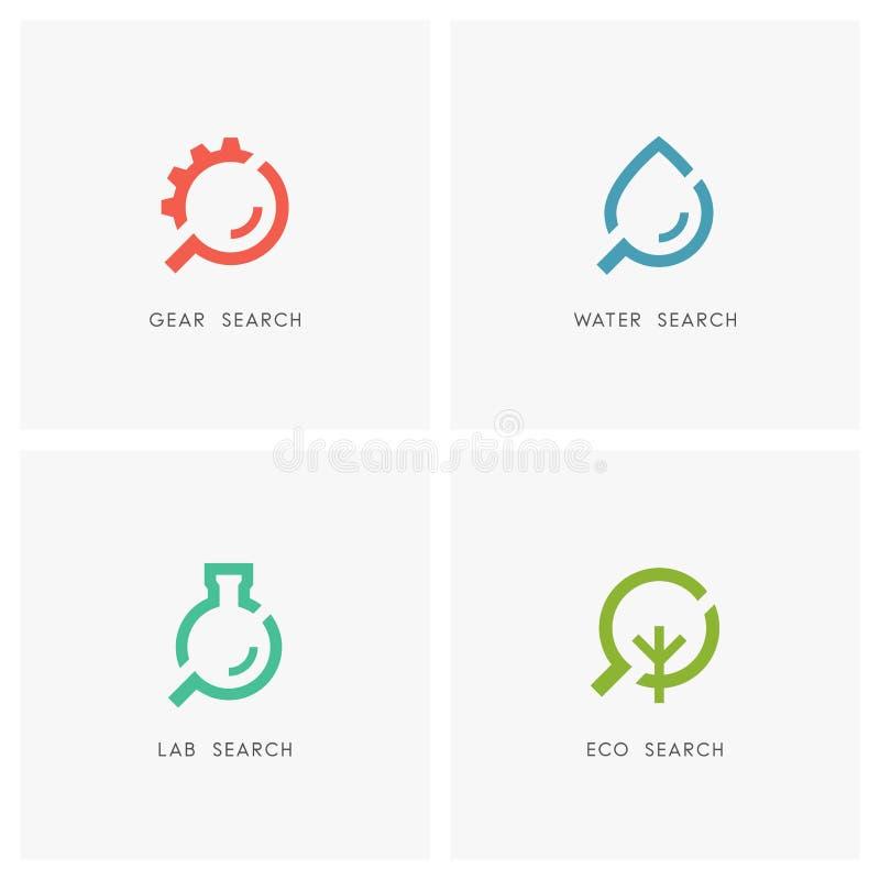 Rewizja loga set ilustracji