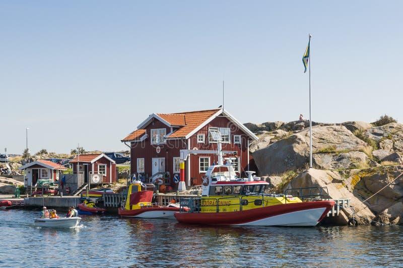 Rewizja Smögen i ratownicza stacja obrazy stock